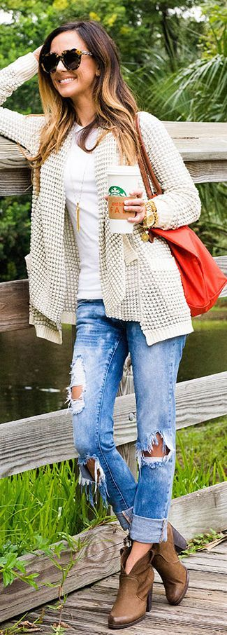 Waterfall Knit Cardi Fall Inspo by Sequins & Things