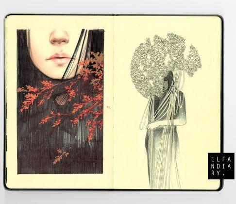 moleskine by Elfandiary # sketchbook