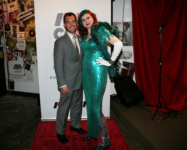 IWCC Launch Party. Me with Mike Donis of Pete Winning. #iwcc #indie #webseries #redcarpet #glamour #vintage