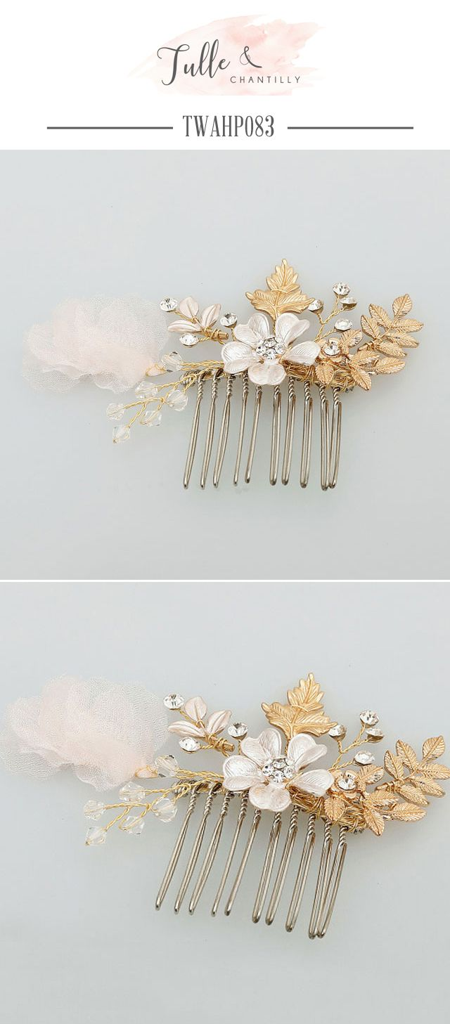 leaves floral bridal hair accessories hair comb | wedding
