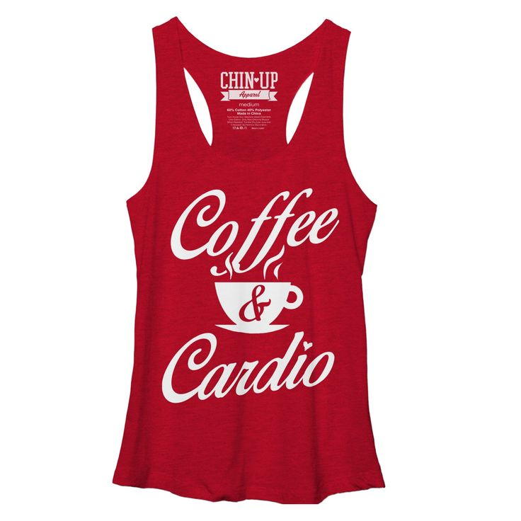 CHIN UP Women's - Coffee and Cardio Racerback Tank #chinupapparel #coffeeandcardio