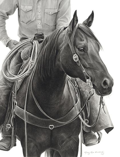 Who's That? by Mary Ross Buchholz  Graphite & Charcoal ~ 21 x 16.5 So Beautiful!