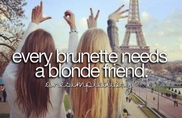 51 best A Blonde and Brunette Best Friend images on