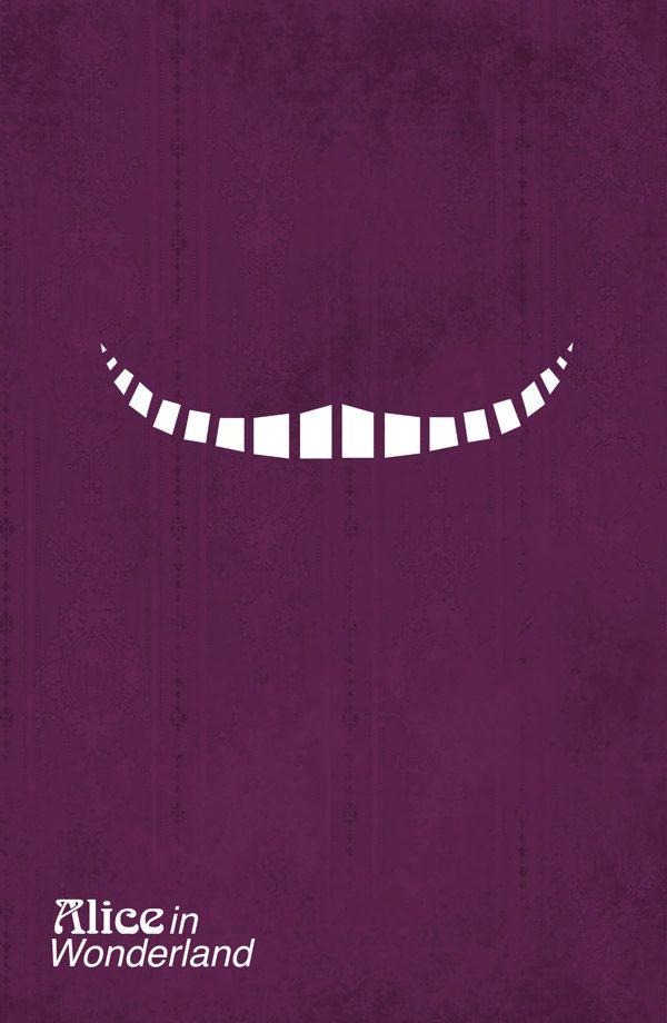 Alice in wonderland, minimalism poster design #mywork