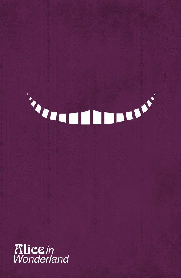 Alice in wonderland, minimalism poster design #mywork