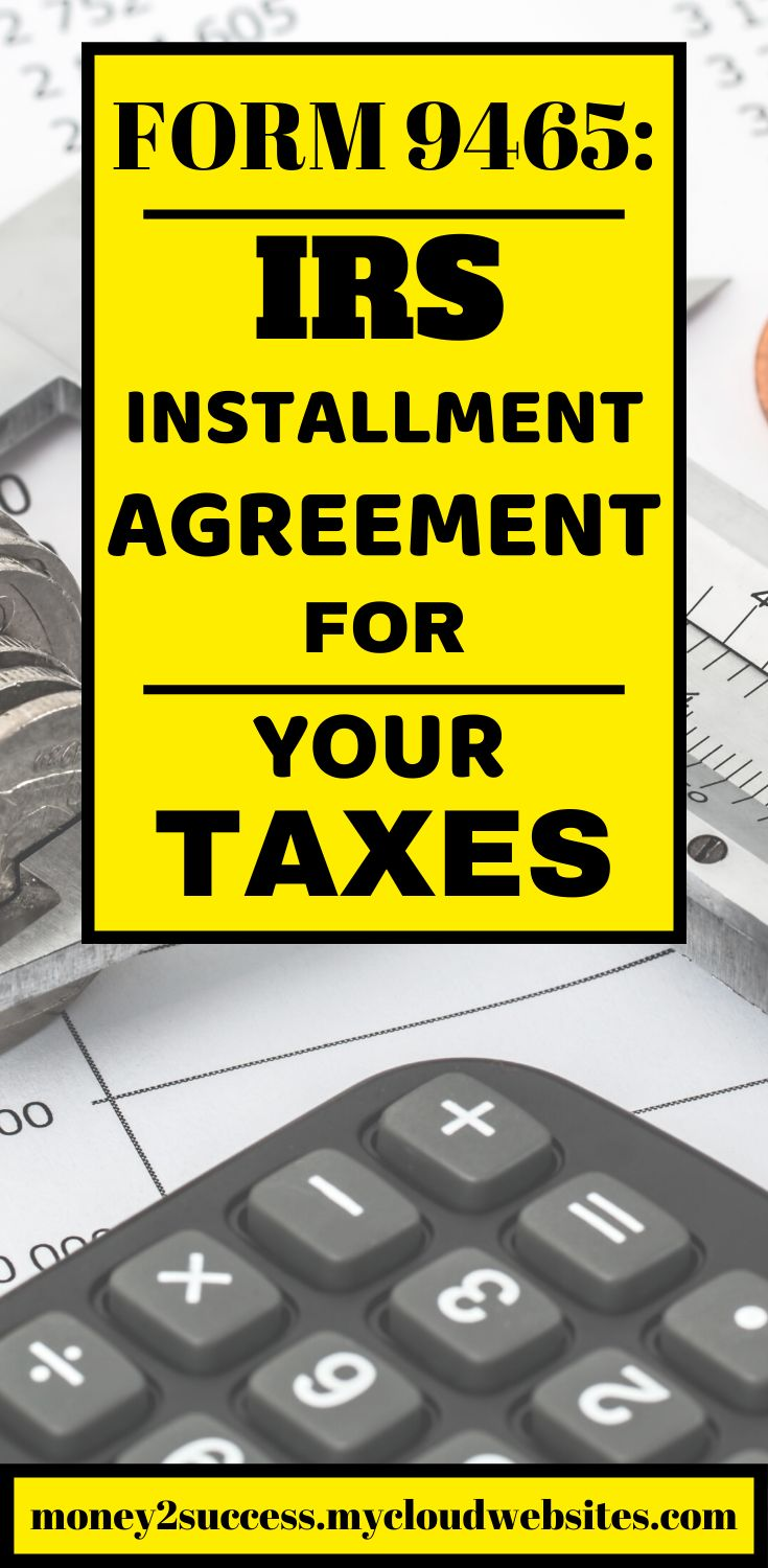 Irs form 9465 instructions how to file retirement plan