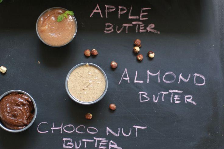3 x butter, czyli masło migdałowe, masło jabłkowe i masło czekoladowo-orzechowe