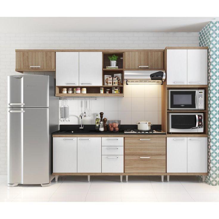 Resultado de imagem para cozinha compacta com lugar para fogão embutido microondas e forno