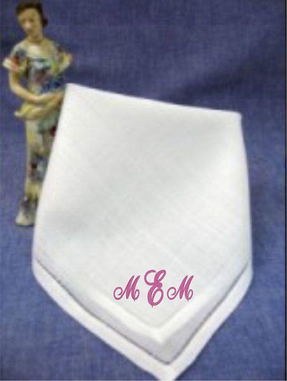 Ladies Handkerchief Monogram Hankerchief Linen By