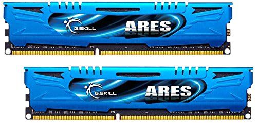 G-Skill Ares F3-2400C11D-8GAB 8 GB (4 GB x 2) DDR3-2400 Non-ECC Memory Modules with Low Profile Heat Spreade Compatible Slots:2 x memory - DIMM 240-pin, Technology:DDR3 SDRAM, Data Integrity Check:Non-ECC, Module Height (inch):1.3, Type:DRAM, Form Factor:DIMM 240-pin, Voltage:1. (Barcode EAN = 4711148597579) http://www.comparestoreprices.co.uk/december-2016-4/g-skill-ares-f3-2400c11d-8gab-8-gb-4-gb-x-2-ddr3-2400-non-ecc-memory-modules-with-low-profile-heat-spreade.asp