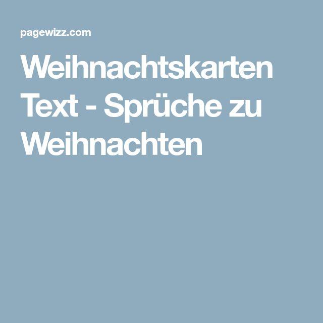 Weihnachtskarten Text - Sprüche zu Weihnachten