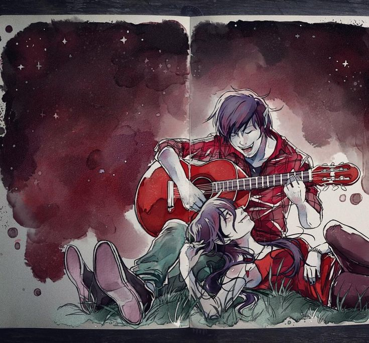 #tbt Vampire song  #adventuretime #marceline #marshalllee  I miss colors on my feed but probably won't have the time to paint anything in the days to come