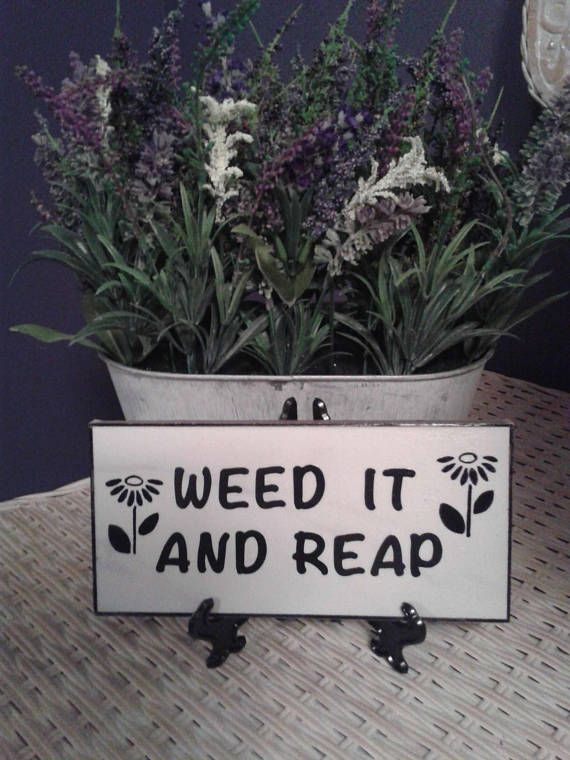 Weed it and reap  Garden Tile 4 X 8