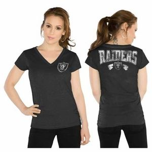 Oakland Raiders Touch By Alyssa Milano Outfield Tee