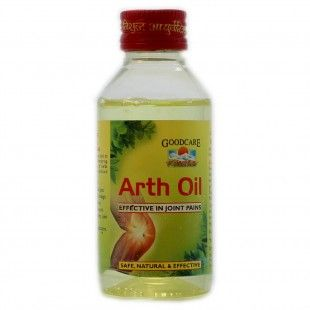 Goodcare Arth Oil is a topical application ayurvedic medicine for Osteoarthritis, joint pains, knee pain, backache, frozen shoulder, muscular stiffness and other arthritic aches and pains.