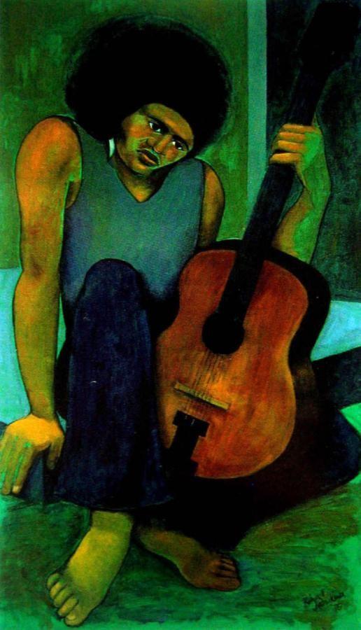 Guitar Player by Robyn Kahukiwa