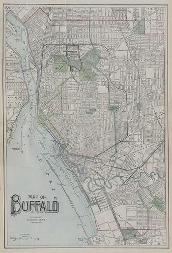 Image of Buffalo Map 1901
