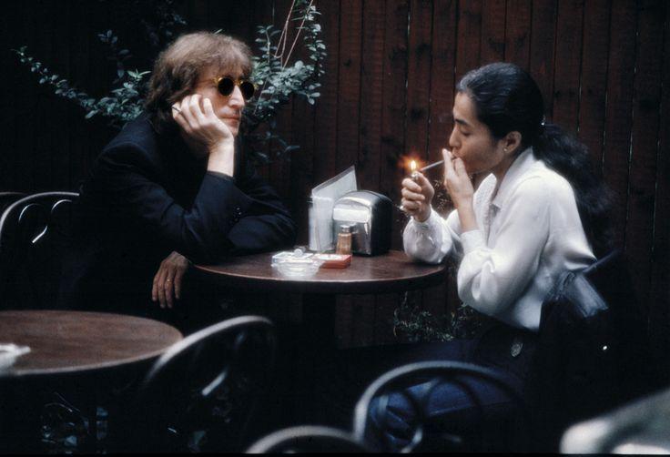 Yoko Ono & John Lennon rare picture, found on http://www.vanityfair.com