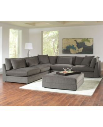 Dana Living Room Furniture Sets. The gray color of the furniture would go nicely with pops of yellow in the decorations and on an accent wall.