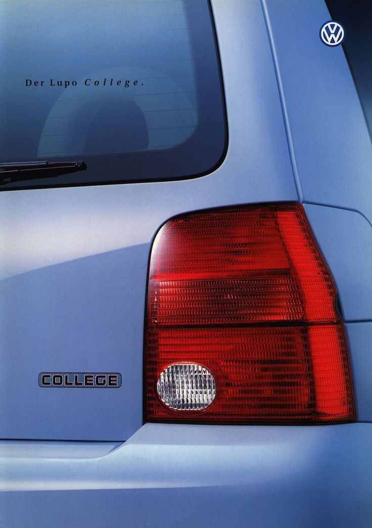 https://flic.kr/p/GU4F5N | Volkswagen Lupo College; 2000_1 | front cover auto car brochure | by worldtravellib World Travel library