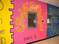 7 Habits Hallway Murals: Definitely eye-catching!!!