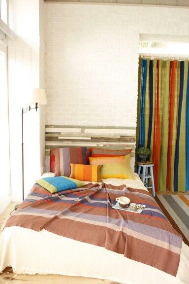 Urban bedroom concept with hanwoven fabric by origo korea