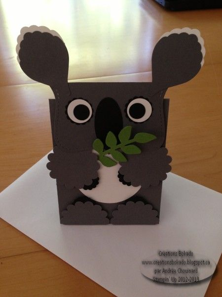 Koala Card Punch Art Valentine Box Valentine Boxes