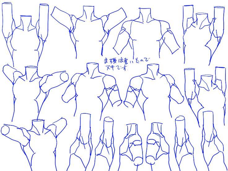 個人的男性首、肩の描き方。 [12]