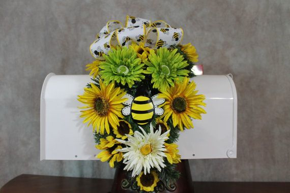 Bumble Bee Mailbox Cover  Bee Mailbox Swag by SouthernCharmFlorals