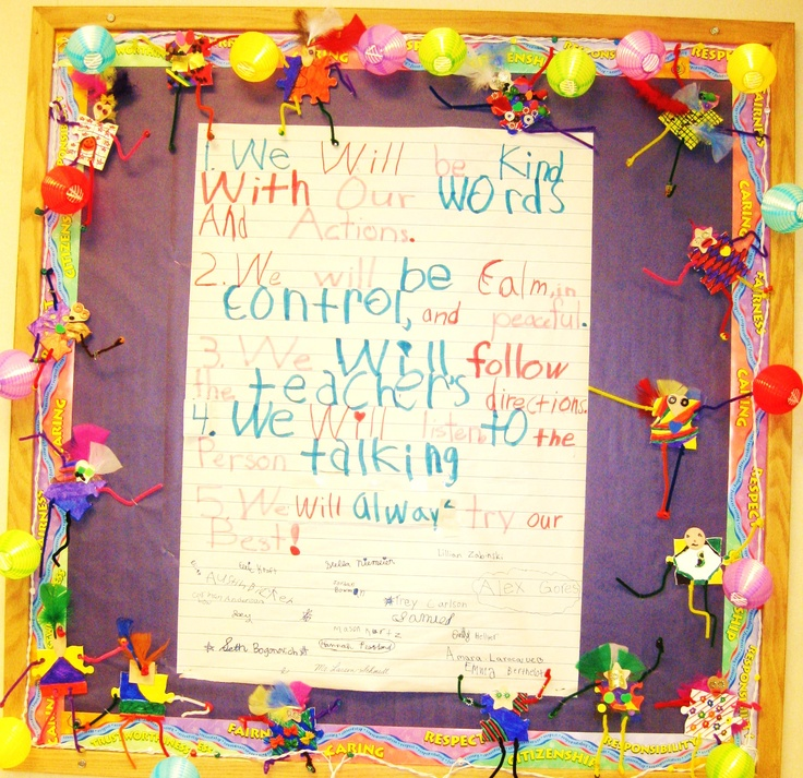 Classroom Pledge Ideas : Children come up with their own class pledge and then sign