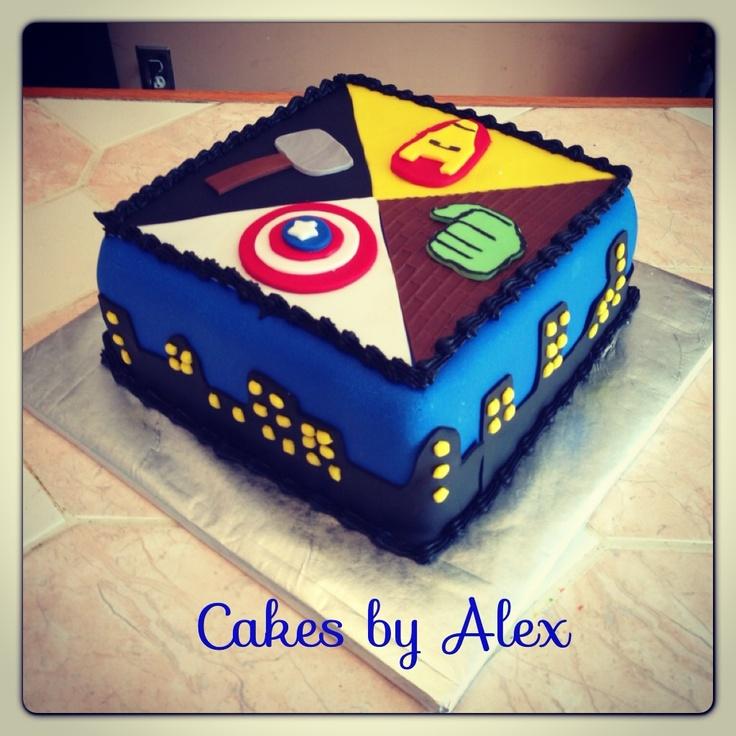 Avengers Birthday Cake Design : Avengers birthday cake Birthday Cakes Pinterest ...