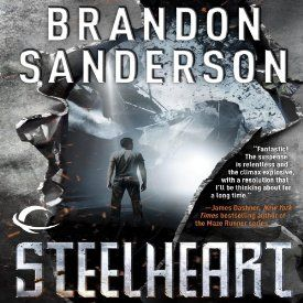 """Another must-listen from my #AudibleApp: """"Steelheart: The Reckoners, Book 1"""" by Brandon Sanderson, narrated by MacLeod Andrews."""