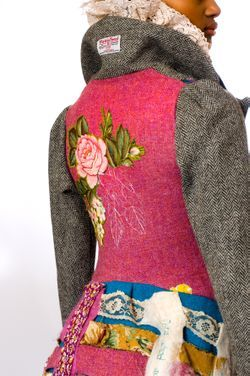 Judith R Clark is a young designer from Scotland who produces handmade garments using fine Scottish wools and Harris Tweed.