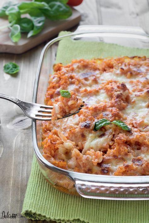 Riso gratinato al forno ricetta e varianti golose di riso al forno Dulcisss in forno by Leyla