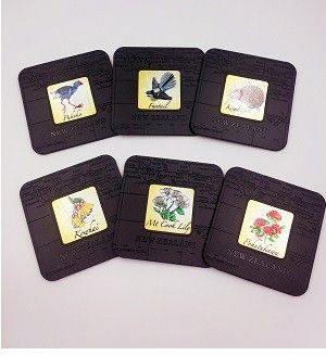 NZ Birds and Flowers Coasters -6pk