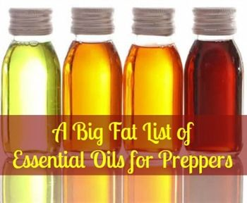 Have you ever wondered what essential oil to use for what? Here is a prepper's big fat list of essential oils and their uses.