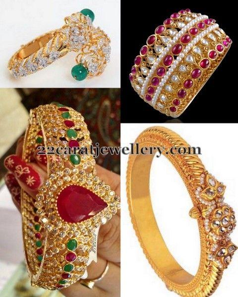 Jewellery Designs: Broad CZ Diamond Bangles Gallery