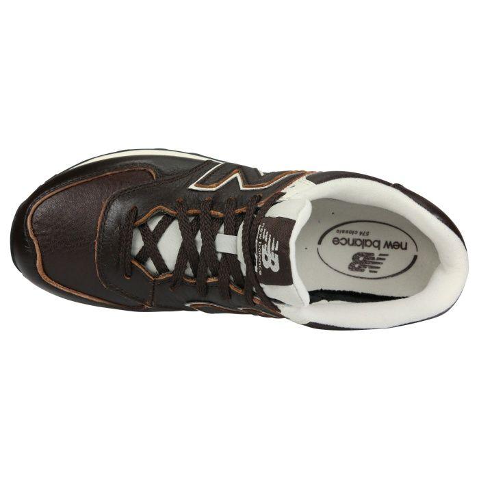 ML574LUA|New Balance 574 Leather Herren Sneaker Braun