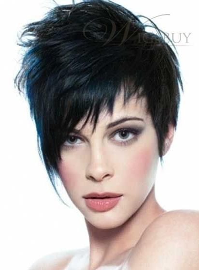 2013 New Arrival Chic Natural Short Straight 100% Human Hair Full Lace Wig with Well-designed Fringe: wigsbuy.com