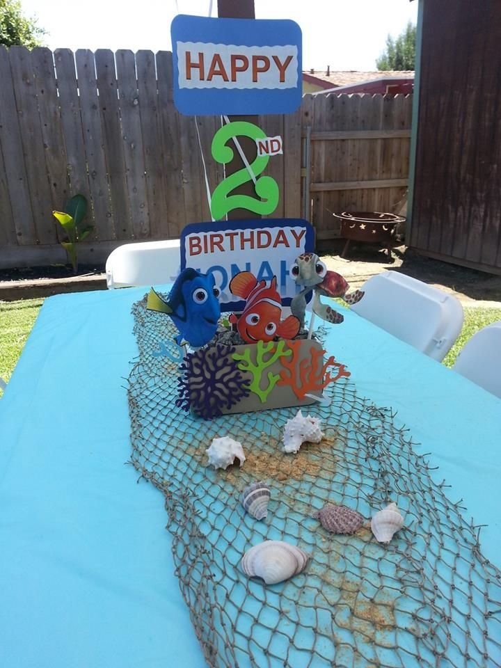 Pin by aly v on maximus first bday pinterest for Nemo decorations