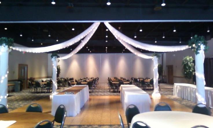 Dancefloor canopy party rentals ceiling treatments