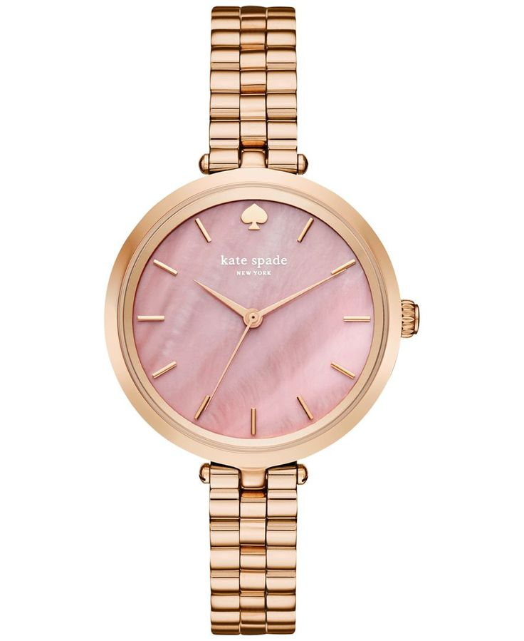 kate spade new york Women's Holland Rose Gold-Tone Stainless Steel Bracelet Watch 34mm KSW1158