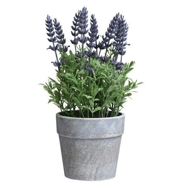 Konstgjord krukväxt  23 cm Lavendel  - Konstväxter - Rusta