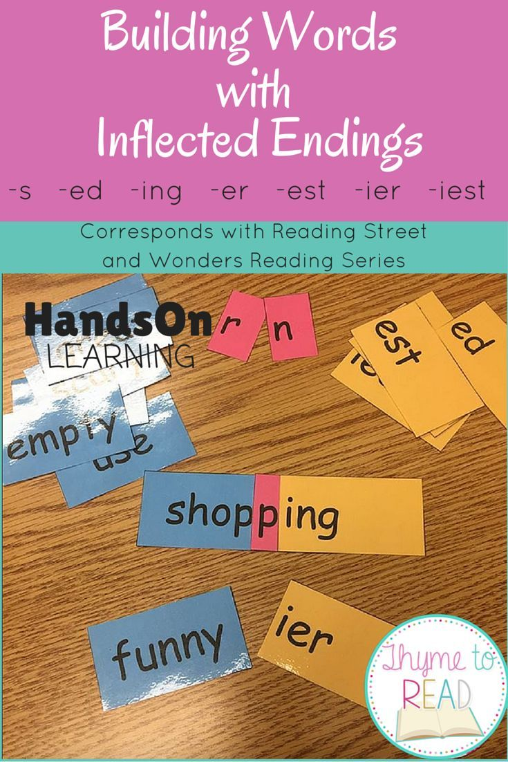 Best 20 inflectional endings ideas on pinterest phonics hands on literacy center activity to support understanding of inflected endings robcynllc Gallery