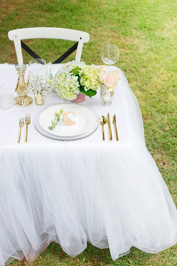 Tulle Tutu Tablecloth  to fit 6ft Trestle by CreativePapier