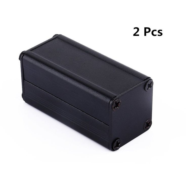 Yosoo 2pcs New Black Extruded Aluminum Electronic Box Enclosure Project Case PCB DIY Box-1.97x0.98x0.98 (LxWxH). Light Weight, Durable, Non-corrosive. Mold have long service life. Built-in grooves for holding circuit board. Split aluminum shell, data board shell, MINI mobile power shell. Good for electronic projects, power supply units. Surface sandblasting, brushed processing.