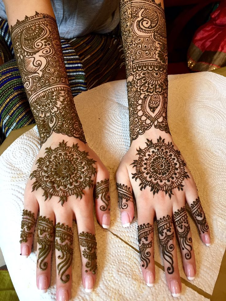 Bridal Mehendi for the Hands until the elbows