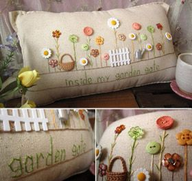 Handmade cottage pillows
