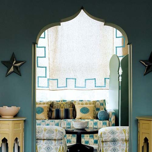 Exotic Blue Moroccan Living Room Decoration Style