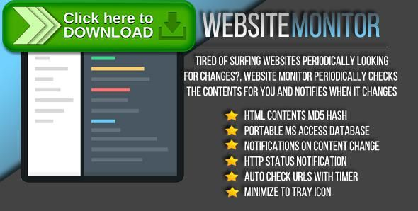 [ThemeForest]Free nulled download Website Monitor from http://zippyfile.download/f.php?id=57294 Tags: ecommerce, check, checker, hash, http, https, md5, monitor, navigation, status, web, website